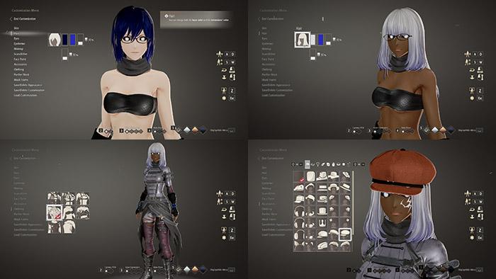 Code Vein การสร้างตัวละคร, Code Vein การแต่งตัวละคร