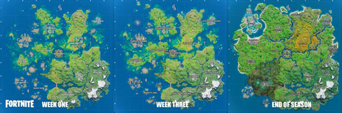 Fortnite Chapter 2 Season 3: Splash Down, Point of Interest, The Ruins