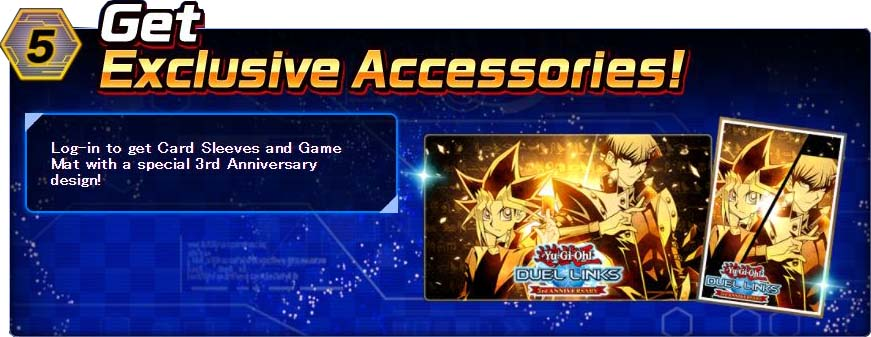 Yu-Gi-Oh! Duel Links 3rd Anniversary, Card Sleeves, Game Mat