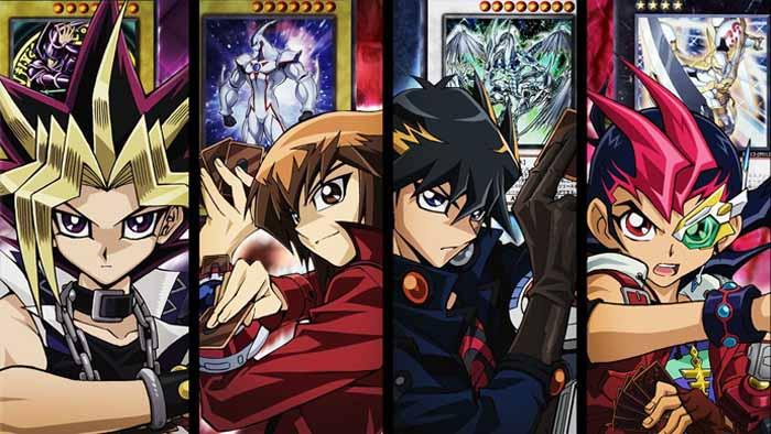 Yu-Gi-Oh!, Yugi Muto, Jaden Yuki, Yusei Fudo, Yuma Tsukumo