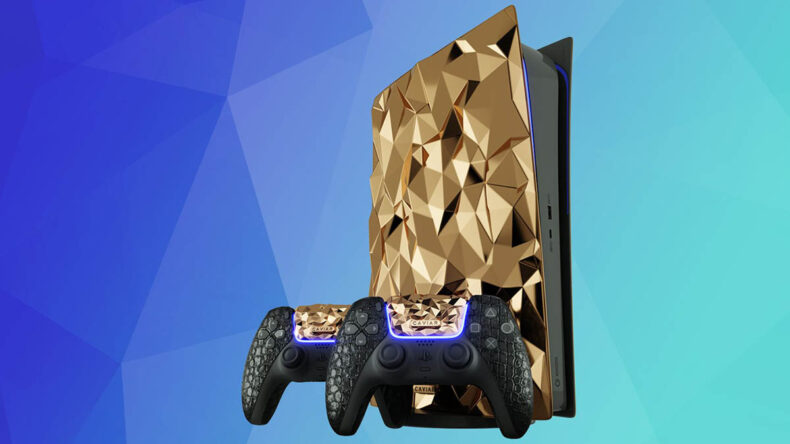 Caviar PlayStation 5 Limited Edition Gold, LetsGoDigital