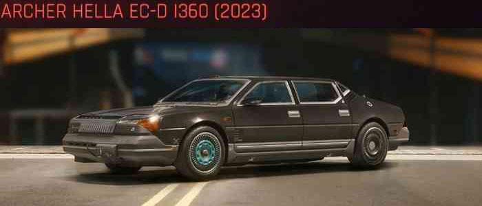 Cyberpunk 2077, All Vehicles, พาหนะทั้งหมดภายในเกม, Archer Hella EC-D I360 (2023)