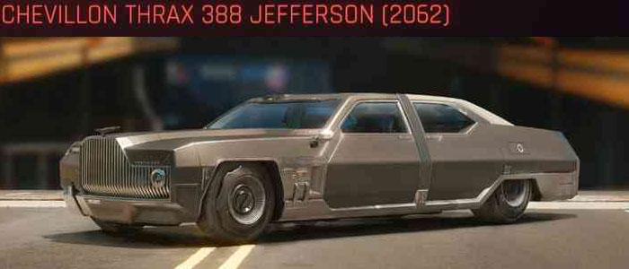 Cyberpunk 2077, All Vehicles, พาหนะทั้งหมดภายในเกม, Chevillon Thrax 388 Jefferson (2062)