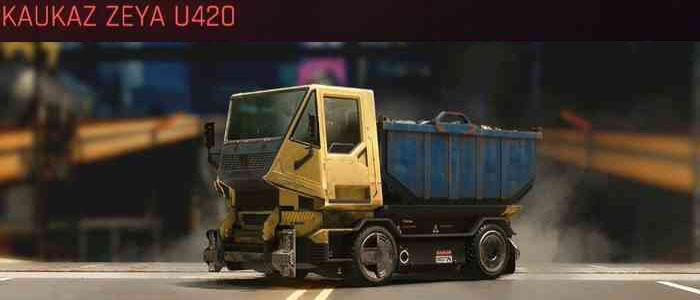 Cyberpunk 2077, All Vehicles, พาหนะทั้งหมดภายในเกม, Kaukaz Zeya U420