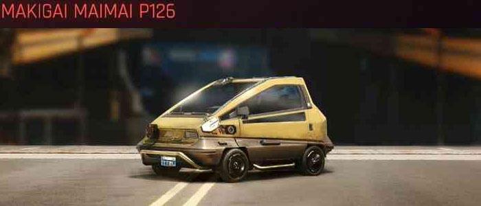 Cyberpunk 2077, All Vehicles, พาหนะทั้งหมดภายในเกม, Makigai Maimai P126