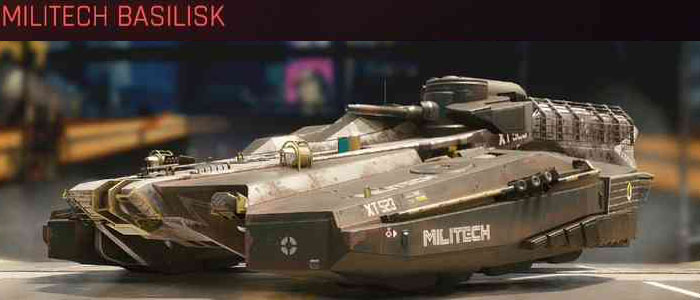 Cyberpunk 2077, All Vehicles, พาหนะทั้งหมดภายในเกม, Militech Basilisk