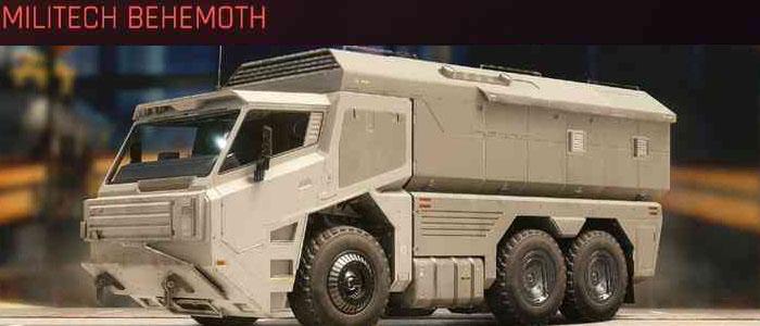 Cyberpunk 2077, All Vehicles, พาหนะทั้งหมดภายในเกม, Militech Behemoth