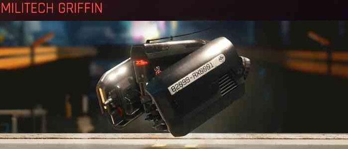 Cyberpunk 2077, All Vehicles, พาหนะทั้งหมดภายในเกม, Militech Griffin