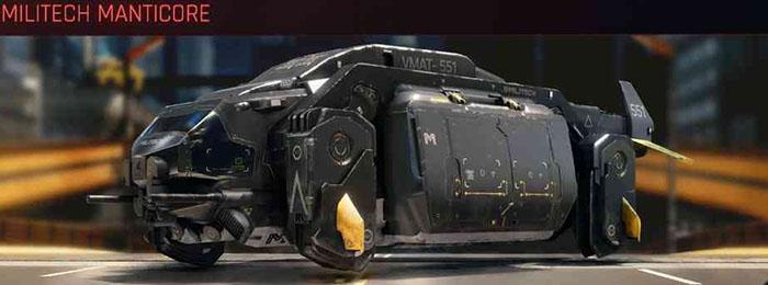 Cyberpunk 2077, All Vehicles, พาหนะทั้งหมดภายในเกม, Militech Manticore