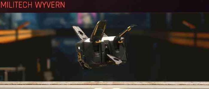 Cyberpunk 2077, All Vehicles, พาหนะทั้งหมดภายในเกม, Militech Wyvern