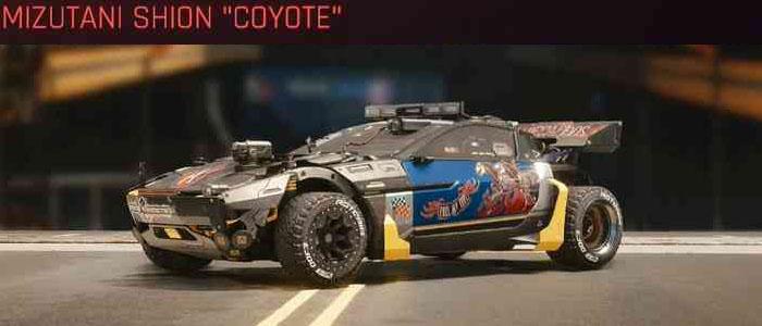 "Cyberpunk 2077, All Vehicles, พาหนะทั้งหมดภายในเกม, Mizutani Shion ""Coyote"""