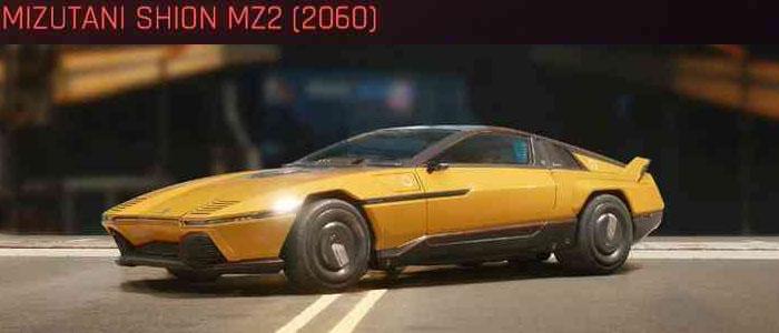 Cyberpunk 2077, All Vehicles, พาหนะทั้งหมดภายในเกม, Mizutani Shion MZ2 (2060)