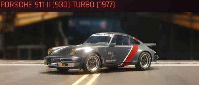 Cyberpunk 2077, All Vehicles, พาหนะทั้งหมดภายในเกม, Porsche 911 II (930) Turbo (1977)