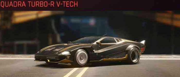 Cyberpunk 2077, All Vehicles, พาหนะทั้งหมดภายในเกม, Quadra Turbo-R-V-Tech