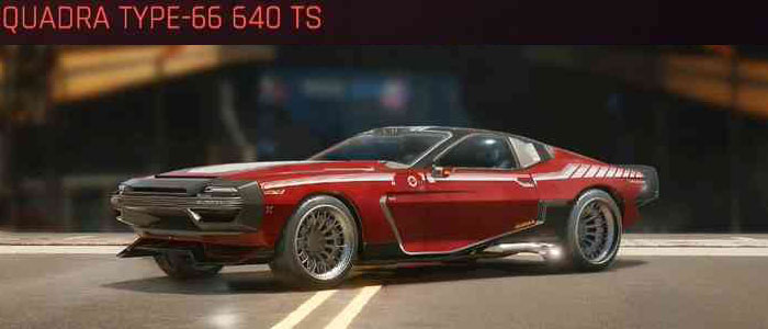 Cyberpunk 2077, All Vehicles, พาหนะทั้งหมดภายในเกม, Quadra Type-66 640 TS