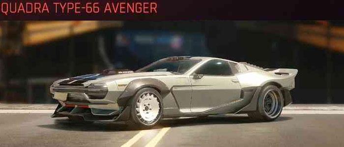 Cyberpunk 2077, All Vehicles, พาหนะทั้งหมดภายในเกม, Quadra Type-66 Avenger