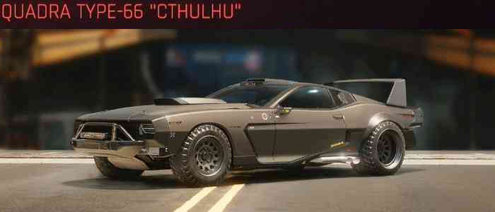 "Cyberpunk 2077, All Vehicles, พาหนะทั้งหมดภายในเกม, Quadra Type-66 ""Cthulhu"""