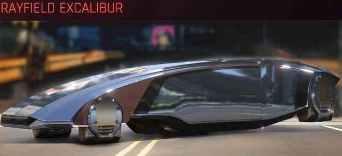 Cyberpunk 2077, All Vehicles, พาหนะทั้งหมดภายในเกม, Rayfield Excalibur