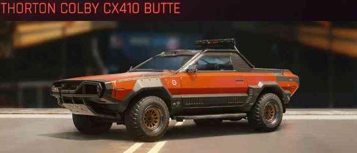 Cyberpunk 2077, All Vehicles, พาหนะทั้งหมดภายในเกม, Thorton Colby CX410 Butte