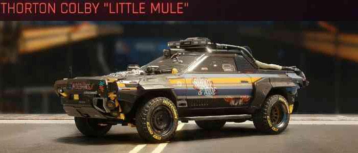 Cyberpunk 2077, All Vehicles, พาหนะทั้งหมดภายในเกม, Thorton Colby Little Mule