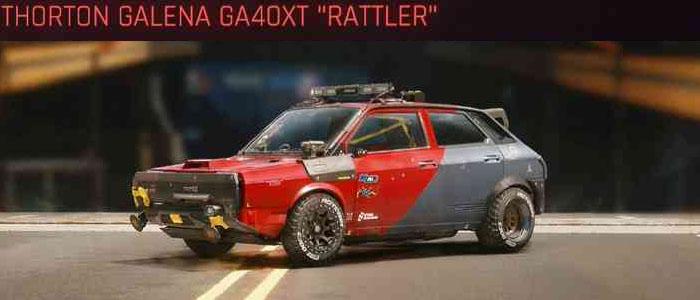 "Cyberpunk 2077, All Vehicles, พาหนะทั้งหมดภายในเกม, Thorton Galena GA40XT ""Rattler"""