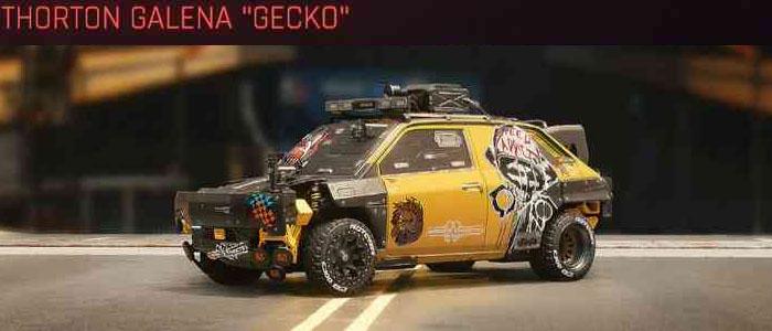 "Cyberpunk 2077, All Vehicles, พาหนะทั้งหมดภายในเกม, Thorton Galena ""Gecko"""