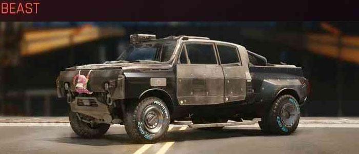"Cyberpunk 2077, All Vehicles, พาหนะทั้งหมดภายในเกม, Thorton Mackinaw ""Beast"""