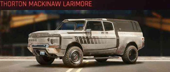 Cyberpunk 2077, All Vehicles, พาหนะทั้งหมดภายในเกม, Thorton Mackinaw Larimore