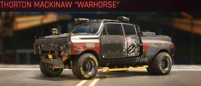 "Cyberpunk 2077, All Vehicles, พาหนะทั้งหมดภายในเกม, Thorton Mackinaw ""Warhorse"""