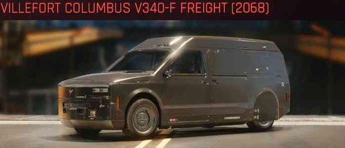 Cyberpunk 2077, All Vehicles, พาหนะทั้งหมดภายในเกม, Villefort Columbus V340-F Freight (2068)