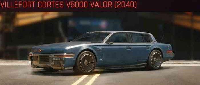 Cyberpunk 2077, All Vehicles, พาหนะทั้งหมดภายในเกม, Villefort Cortes V5000 Valor (2040)