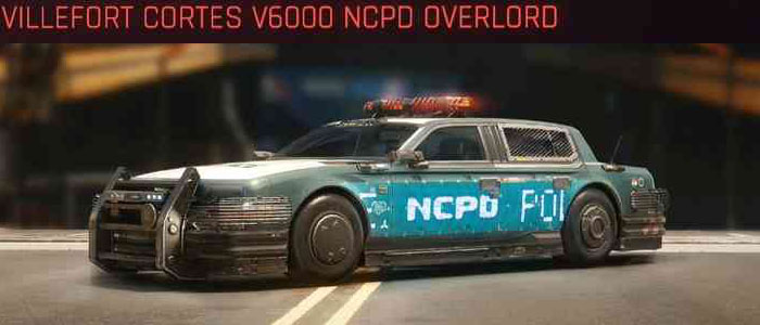 Cyberpunk 2077, All Vehicles, พาหนะทั้งหมดภายในเกม, Villefort Cortes V6000 NCPD Overlord