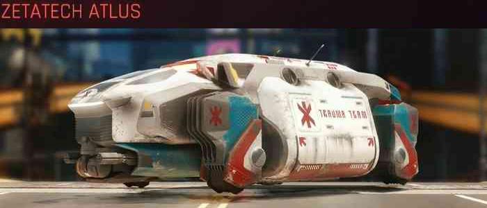 Cyberpunk 2077, All Vehicles, พาหนะทั้งหมดภายในเกม, Zetatech Atlus