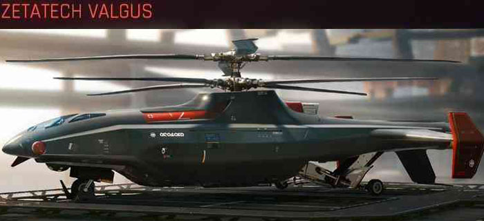 Cyberpunk 2077, All Vehicles, พาหนะทั้งหมดภายในเกม, Zetatech Valgus