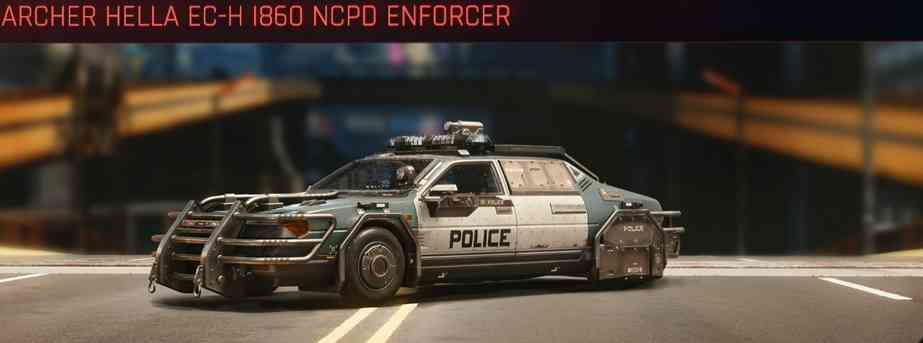 Cyberpunk 2077, All Vehicles, พาหนะทั้งหมดภายในเกม, Archer Hella EC-H I860 NCPD Enforcer